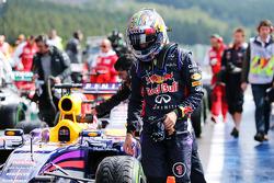 F1: Sebastian Vettel, Red Bull Racing RB10 in parc ferme