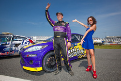 #00 Royal Purple Racing / OMSE2 Ford Fiesta ST: Steve Arpin with the Red Bull girl