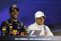 Race winner Daniel Ricciardo, Red Bull Racing in the FIA Press Conference