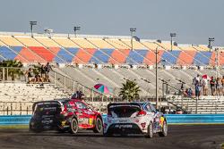 #07 SH Racing Rallycross Ford Fiesta ST: Nelson Piquet Jr., #67 Hyundai / Rhys Millen Racing Hyundai Veloster: Rhys Millen