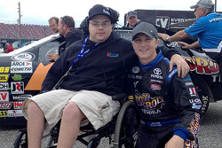 Aaron Grosskopf with ARCA driver Justin Boston