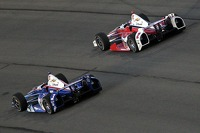 Helio Castroneves, Penske Racing Chevrolet and Juan Pablo Montoya, Penske Racing Chevrolet