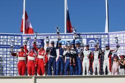 LMGTC podium: winners Olivier Beretta, David Markozov, Anton Ladygin