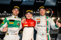 PRO-AM Cup pole winner Marco Seefried, PRO CUP and overall pole winner Christopher Mies, Gentleman Trophy pole winner Alexander Mattschull