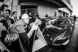 Race winner and Blancpain Endurance Series champion Laurens Vanthoor enters parc fermé