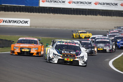 Marco Wittmann, BMW Team RMG BMW M4 DTM leads after the start