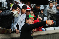 Sergio Perez, Sahara Force India F1 with fans