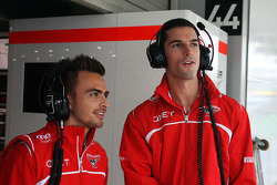 (L to R): Will Stevens, Marussia F1 Team Reserve Driver with Alexander Rossi, Marussia F1 Team Reserve Driver