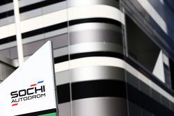 Sochi Autodrom sign in the paddock