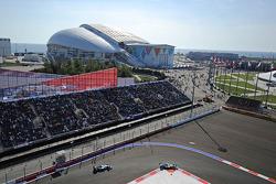 Nico Rosberg, Mercedes AMG F1 W05 leads Lewis Hamilton, Mercedes AMG F1 W05