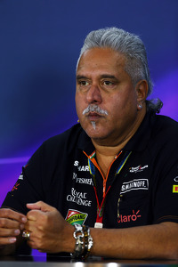 Dr. Vijay Mallya, Sahara Force India F1 Team Owner in the FIA Press Conference