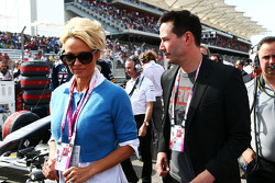 (L to R): Pamela Anderson, Actress with Keanu Reeves, Actor on the grid