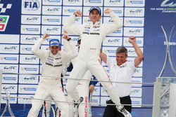 Podium: race winners Neel Jani, Romain Dumas celebrate