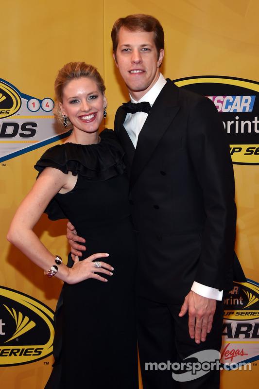 Brad Keselowski and his girlfriend Paige White at Champions Week