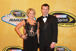 Crew chief Rodney Childers and his wife