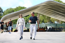 Susie Wolff and David Coulthard