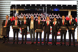 Maurizio Arrivabene with GT drivers