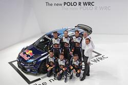 The 2015 Volkswagen Polo R with Sébastien Ogier, Julien Ingrassia, Jari-Matti Latvala, Miikka Anttila, Andreas Mikkelsen, Ola Floene