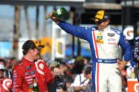 Podium: second place Christian Fittipaldi, winner Scott Dixon