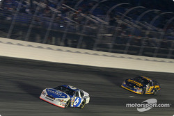 Mark Martin leads Kurt Busch