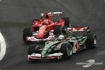 Christian Klien and Michael Schumacher