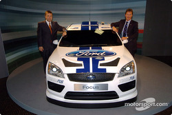 Malcolm Wilson and Jost Capito with the new Ford Focus WRC Concept