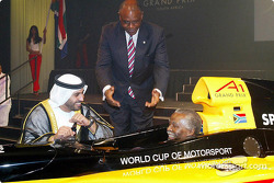 His Highness Sheikh Maktoum Hasher Maktoum Al Maktoum (UAE) CEO A1 Grand Prix, Tokyo Sexwale (RSA) Chairman of Mvelaphamda Holdings and A1 Grand Prix South Africa seat holder and South African President Mbeki (RSA)
