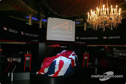 The launch of the UK A1 Grand Prix car