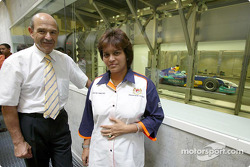 Malaysian Minister of Youth and Sports, Datuk Azalina binti Othman Said, visits Sauber