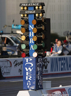 Christmas tree at Pomona Raceway