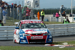 Rick Kelly was first into the pits and it paid off