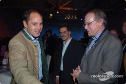 Gerhard Berger with Dr Mario Theissen and Prof Burkard Goeschel