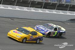 Kyle Busch behind the pace car