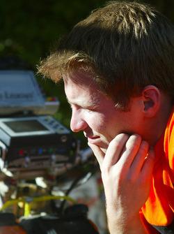 KTM team testing: KTM Repsol Red Bull team member at work