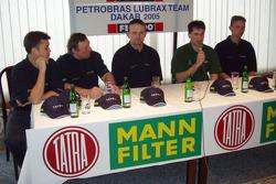 Tomas Tomecek Letka Racing Team presentation: Tomas Tomecek with Michael Tanaka, Vojtech Moravek, Andre De Azevedo and Jaromir Martinec