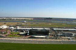 View of the pit road from the roof of the tower