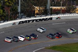Matt Kenseth and Jeff Burton at the front of the pack on the