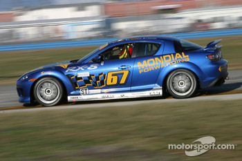 #67 SpeedSource Mazda RX-8: Rich Walker, Jose Armengol
