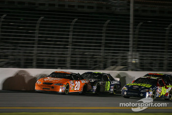 Tony Stewart, Jimmie Johnson and Greg Biffle