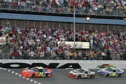 Another restart: Jeff Gordon leads Dale Earnhardt Jr. and Jimmie Johnson