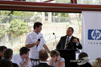 Williams-BMW HP event at the Opera House in Sydney: Mark Webber on stage
