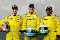 Tiago Monteiro, Robert Doornbos and Narain Karthikeyan
