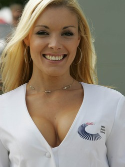 A lovely BMW Celebrity Challenge grid girl