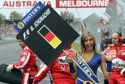 Grid girl of Michael Schumacher