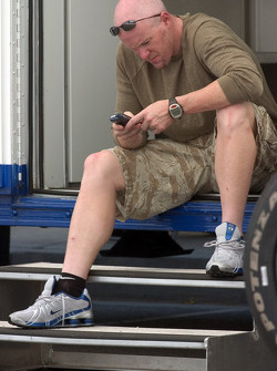 Paul tracy checks his mail