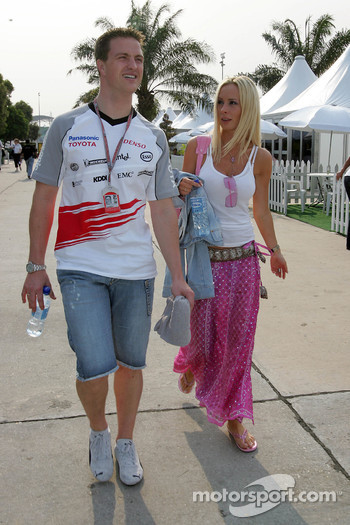 Ralf Schumacher with his lovely wife Cora