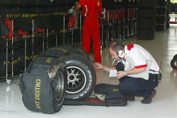 Bridgestone technician at work