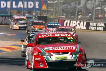 Paul Dumbrell in the middle of the pack