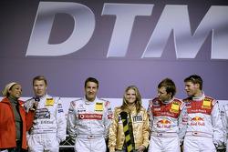 Mika Hakkinen, Bernd Schneider, Ana Jonson, Mattias Ekström and Martin Tomczyk