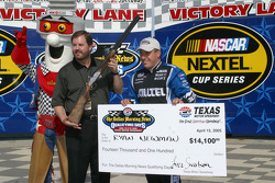 Pole Trophy presentation to Ryan Newman